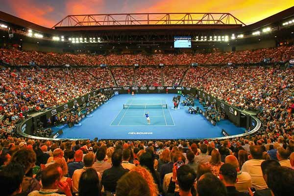 australian open stadium night